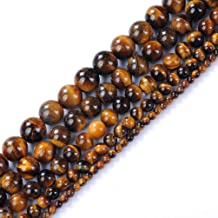 45pcs 8mm Yellow Tiger Eye Beads for Jewelry Making Adult Bracelets Necklace Natural Stone Round Beads for Handmade Jewelry