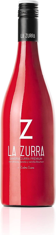 La Zurra -Sangria La Zurra - 6 botellas 750 ml (Uva, Fresa, vainilla y canela)