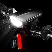 ضوء دراجة BIKUUL الأمامي والظهر، يو إس بي ضوء دراجة مع قرن عالٍ، 3 أنماط إضاءة مضادة للماء ضوء دراجة