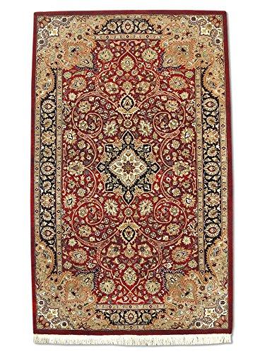 Pak Persian Rugs Hecho a Mano Tradicional Persa Alfombra Isfahan, Lana/Art. Seda...