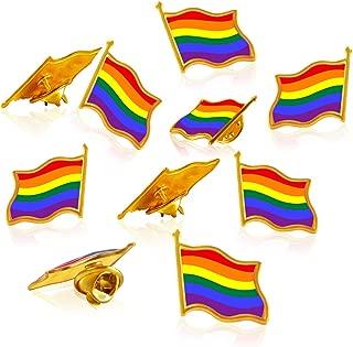 10/20/50Pack Rainbow Flag Pins- Jewelry Quality Enamel Pride Lapel Pin- Gay LGBT Lapel Pins