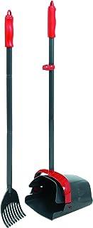 Petmate Clean Response Swivel Bin & Rake Durable Plastic Pooper Scooper Gray/Red