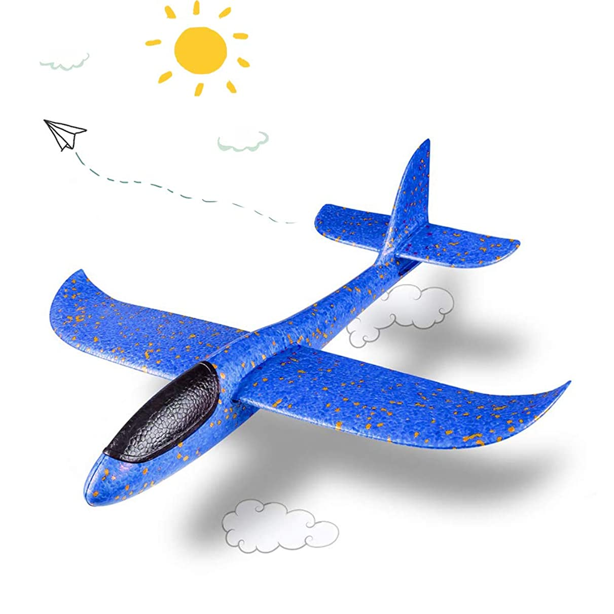 HongKit Manual Throwing Foam Airplane Outdoor Game Toys for Kids for Childrens Day Gift