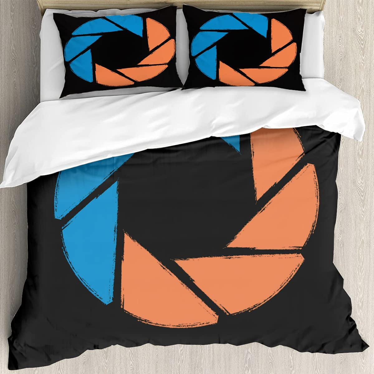 Aperture Science 100% quality warranty! Reticle Logo Bed Sets Size Kids Cover Queen Phoenix Mall Tee