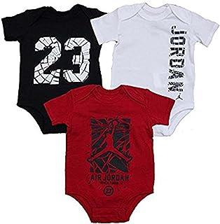 1ca438ad05a183 Nike Air Jordan Infant New Born Baby Bodysuit 3 Pcs Layette Set 0-3 Months