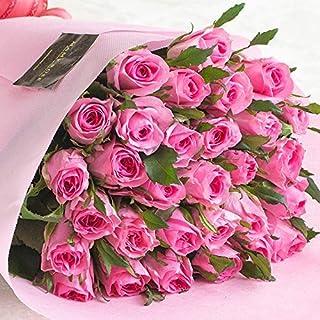 バラギフト専門店のマミーローズ 選べるバラ本数セレクト 還暦祝い 誕生日 プロポーズ 贈り物の豪華なバラの花束(生花) ピンク 10本