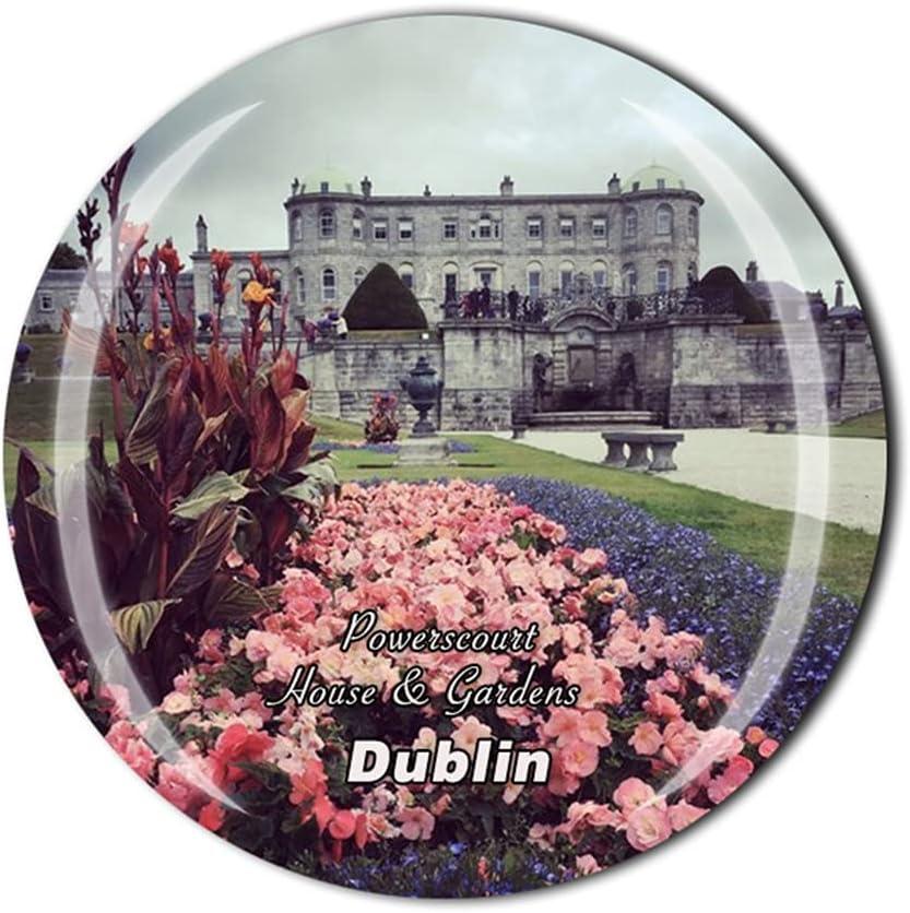 Ireland Powerscourt House & Gardens Dublin 3D Refrigerator Magnet Crystal Style Souvenir Fridge Magnet Home Kitchen Decor Gift Collection