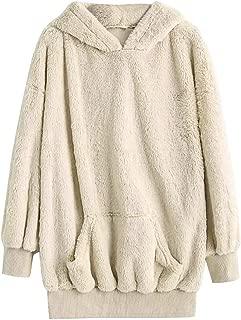 Women Long Sleeve Zipper Sherpa Sweatshirt Soft Fleece Pullover Outwear Coat Hoodies LIM&Shop