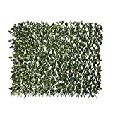 Windscreen4less Artificial Leaf Faux Ivy Expandable/Stretchable Privacy Fence Screen (Single Sided Leaves), Ficus 1 Pack