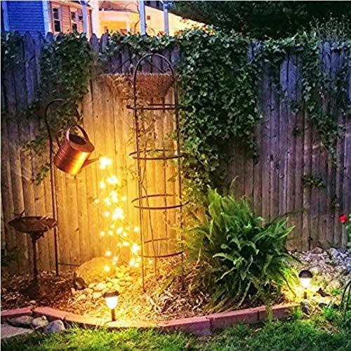 Clicked Luces de jardín de Ducha de Estrella, decoración de luz artística, Luces Decorativas Impermeables con Soporte para Pasarela de Patio, decoración de Fiesta de Navidad