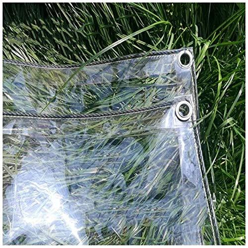 AMDHZ Rideau Pergola Extérieur Rideau pour Pergola Pergola Transparent Étanche Terrasse Rideaux en PVC 450g/㎡ Couverture de Serre de Jardin (Color : Clear, Size : 3x3m/9.8x9.8ft)