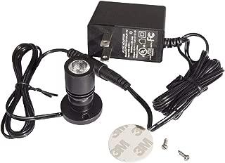 1.5W LED Picture Lights Mini Accent Spotlights,Aluminum,Black Finish,Surface Mount(1-Pack Kit,Cold White)