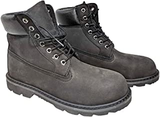 Men's Work Boot with Vegan, Leather, Water Resistant, Water Proof and Steel Toe Options by NYC Tough Boot Company (9.5, Water Resistant Black Nubuck)