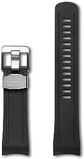 Crafter Blue Curved End Rubber Strap Watch Band for Seiko Shogun SBDC007, SBDC029, SPB057J, SPB099J1 etc