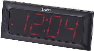 Onn Am/Fm Digital Clock Radio Snooze/Dual Alarms with Snooze and Sleep Function – Black ONA15AV101 (Renewed)
