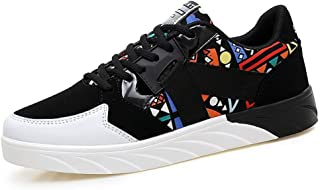 WFBD-CN Herrenschuhe Frauen und Männer Persönlichkeit Mode Sneaker Flache Ferse Lace up Smash Schuhe Sportschuhe Mann (Col...