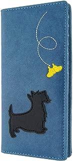 LAVISHY Scottie/Westie Dog Applique Vegan/Faux Leather Large Wallet
