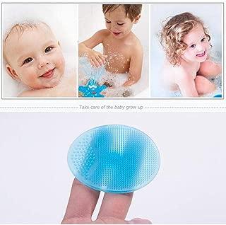 Baby Bath Brush, Hamkaw Toddler Body Silicone Bath Shower Brush Cradle Cap for Dry Skin, Safe & Gentle
