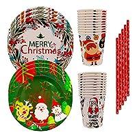 60 pezzi di stoviglie usa e getta natalizie dai colori vivaci e robuste per aggiungere allegria e personalità alla tua festa di natale