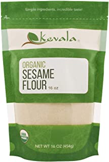 Kevala Organic Sesame Flour 16 oz - Non-GMO, Gluten-free