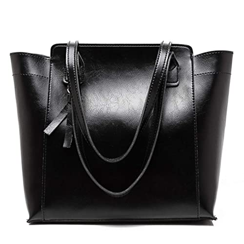 e5154cf38a424b SULISO Women's Top Handle Handbags Tote Bag for School Work Light Weight PU  Leather