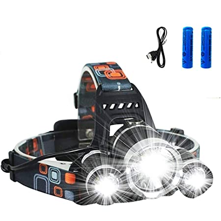 Details about  /USB 350000LM LED Rechargeable Headlight LED Headlamp Charger /& Battery Sets