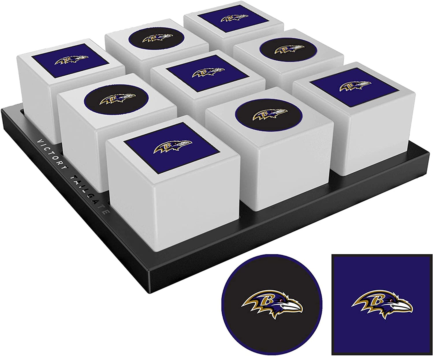Victory Tailgate Baltimore Game 40% OFF Cheap Sale Ravens Tic-Tac-Toe Max 72% OFF