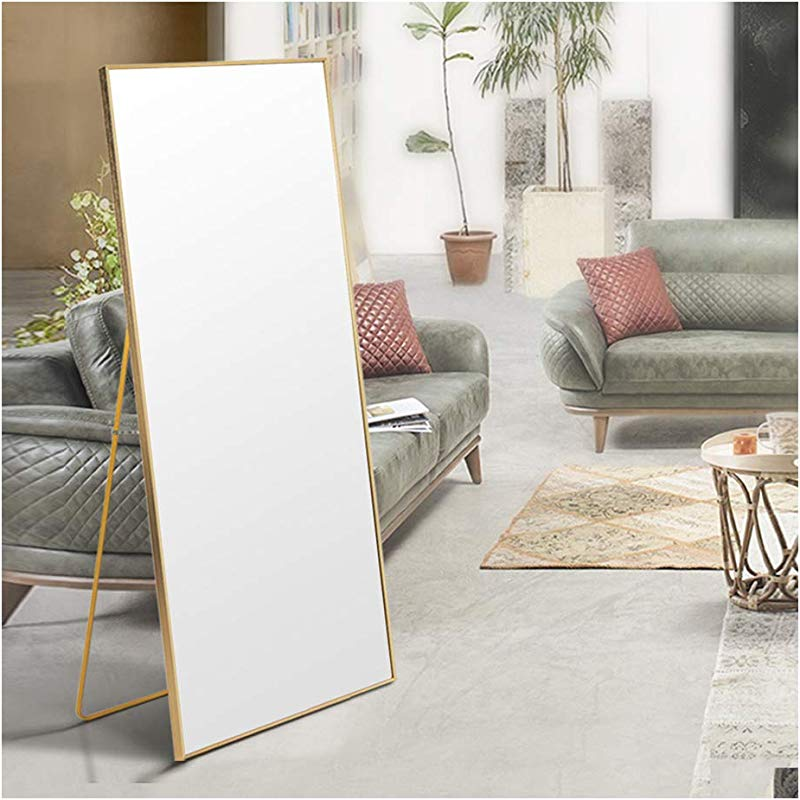 Beauty4U Wall Mirror Floor Mirror Full Length Gold Dressing Mirror For Wall Decor