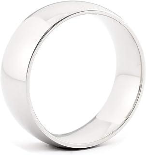 JFSG 6mm, 8mm 316L Stainless Steel Plain High Polish Comfort Fit Wedding Band