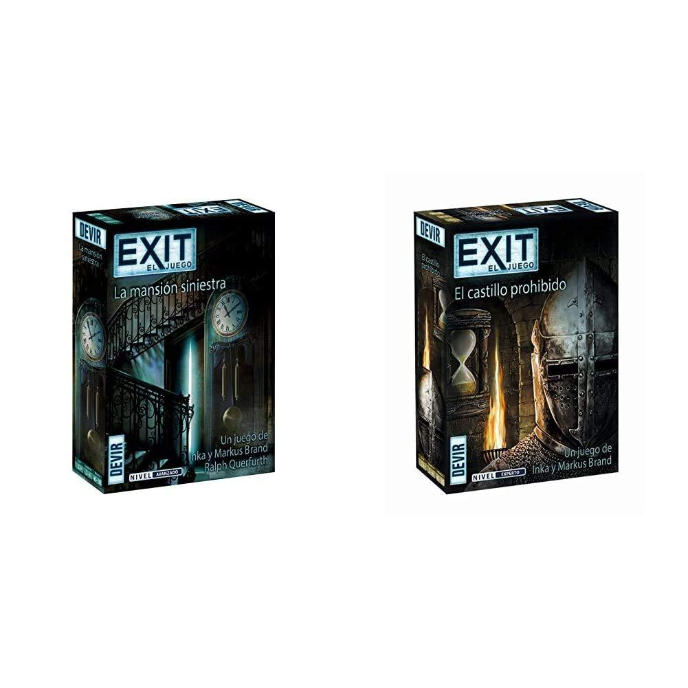 Devir - Exit 11, La mansión siniestra (BGEXIT11) + - Exit: El Castillo Prohibido, Ed. Español (BGEXIT4): Amazon.es: Juguetes y juegos