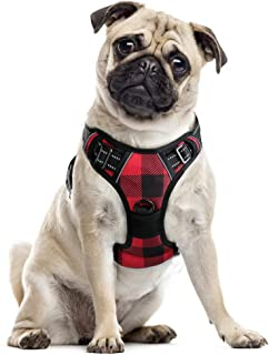 rabbitgoo Dog Harness No Pull, Adjustable Dog Walking Chest Harness with 2 Leash Clips, Comfort Padded Dog Vest Harness wi...