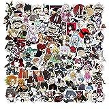 SHUYE Japón trébol Negro Anime Pegatinas de Dibujos Animados Maleta portátil monopatín Equipaje teléfono Anime...