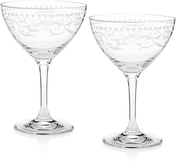 Cole Porter Ritz Bar Champagne Cocktail Glasses Limited Edition