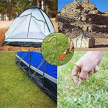 LINSOCLE Sardines Camping, Sardines Piquet Tente, Piquet de Tente, 14 Pièces Clous de Tente, Piquets de Tente en Aluminium pour Le Camping en Plein Air Jardinage 18 cm