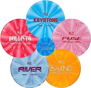 Latitude 64 Retro Burst Disc Golf Starter Set | Frisbee Golf Set | River Fairway Driver | Ballista Distance Driver | Saint...
