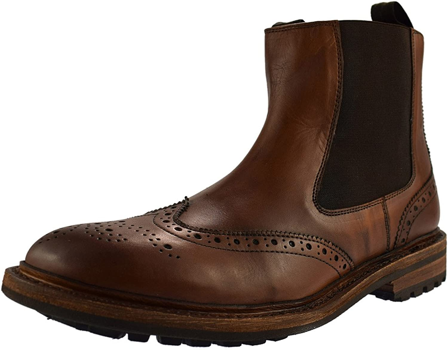 Woodland ISAIAH Mens Leather Twin Gusset Chelsea Boots Light Brown