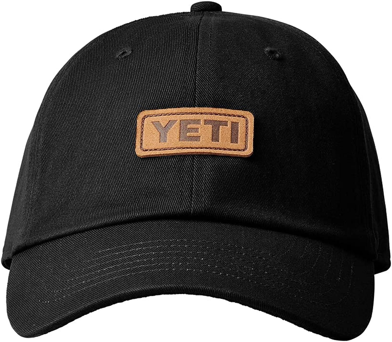 YETI Leather Logo Badge Soft Crown Hat with Bureo Brim