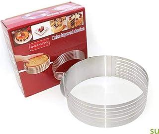 قاطع كيك قابل للتعديل من الفولاذ المقاوم للصدأ جولة الخبز كيك تقطيع تقطيع أدوات صنع الكعك DIY المطبخ الخبز الملحقات
