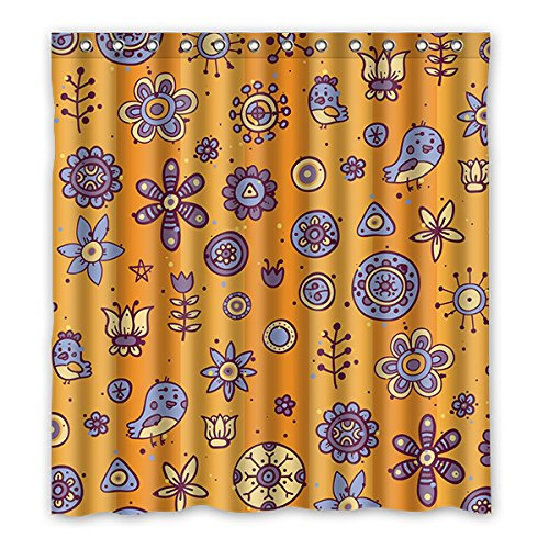 Once Young–Creative Cartoon-Muster Lila Vorhang für die Dusche, Polyester Stoff wasserdicht Duschvorhang Badezimmer Deko 167,6x 182,9cm (167cm x 183cm), Polyester, J, 168 x 183 cm
