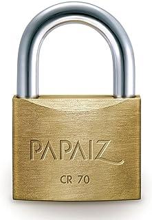 Cadeado de Latão Maciço 70mm com 2 chaves CR-70 Papaiz