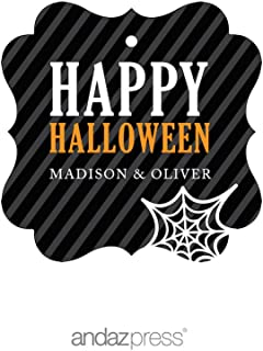 personalized halloween gift tags