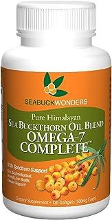 Sea Buckthorn Oil Blend, Omega-7 Complete, 120 Count Softgels