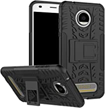 Moto Z2 Play Case,Moto Z2 Force Case, UZER Shockproof Hybrid Slim Dual Layer Rugged Rubber Hybrid Hard/Soft Impact Armor Defender Full Body Protective Case With Kickstand for Moto Z2 Play 2017 Model
