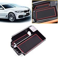 Jiahe Armrest Storage Box for BMW 5 Series 2018 Center Console Organizer Insert Cup Holder ABS Tray Pallet Container with USB Hole