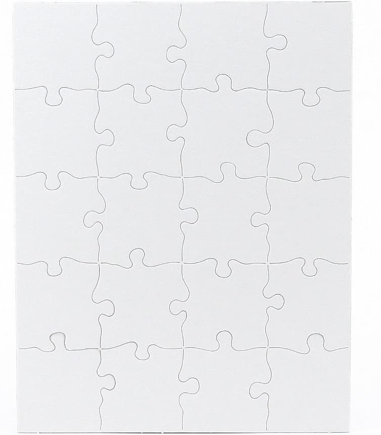 Hygloss Products Blank Jigsaw Puzzle – Compoz-A-Puzzle – 10.25 x 13.25 Inch - 20 Pieces, 12 Puzzles (96412)