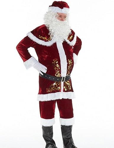 elige tu favorito Shoperama 9Piezas Deluxe Hombre Disfraz de Santa Santa Santa Claus con Adornos Papá Noel Papá Noel  genuina alta calidad