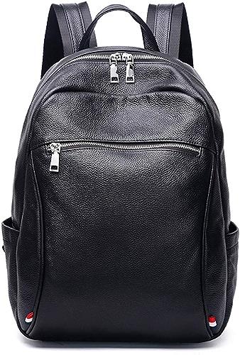 En cuir Voyage d'affaires sac à dos résistant à l'eau sac à dos trekking sac à dos avec housse de pluie pour hommes femmes résistant randonnée sac à dos ultra léger léger pliable,noir