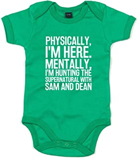 Brand88 - Hunting The Supernatural with Sam and Dean, Printed Baby Grow