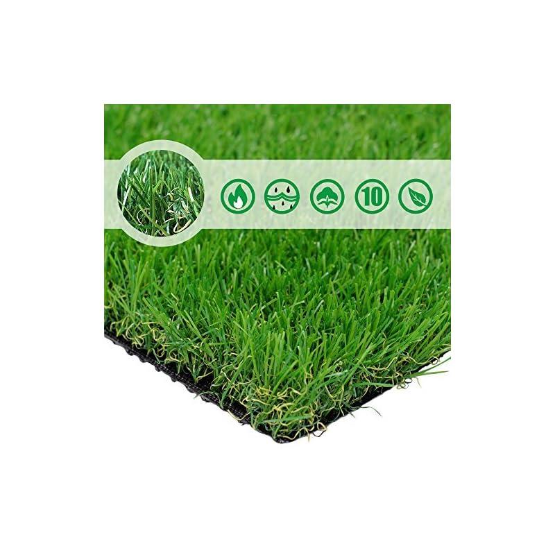silk flower arrangements pet grow 6'x8' pet pad artificial realistic & thick fake mat for outdoor garden landscape dog synthetic grass rug turf, 6' x 8', green