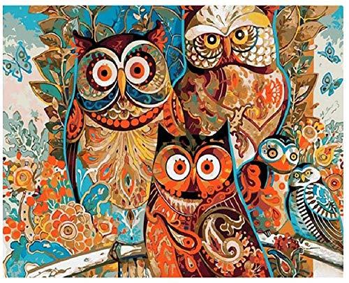 Niños Adultos DIY Experiencia Rompecabezas De Madera 500 Piezas Búho Pintado De Dibujos Animados Desafío Paciencia Rompecabezas Ejercicio Amistad Regalo Casual